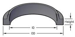MSWE-36x44x5 Metric Rod Wiper Urethane